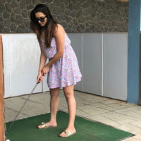 Shivani Surve Bigg Boss Marathi Participant Playing Golf