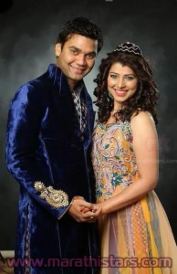 Tejaswini Pandit with husband Bhushan Bopche