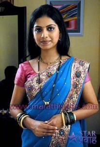 Marathi Actress Smita Shewale in saree