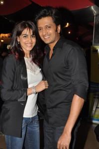 Ritesh Deshmukh & Geneliya At Premiere Of BP-Balak Palak
