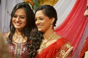 Spruha Joshi with Sister Kshipra Joshi