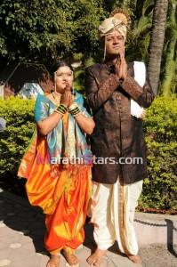 Unch Mazha Zhoka actor Vikram Gokhale wedding photos