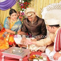 Vikram gaikwad and akshata kulkarni marriage photo
