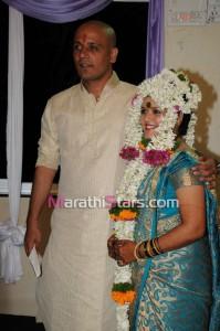 Vikram gaikwad and akshata kulkarni wedding photo