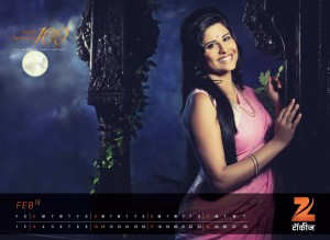 Zee Talkies Celebrity Calendar January 2013 - Sai tamhankar