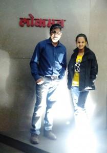 ketaki Mategaonkar with Ajay Thakur(producer) at Lokmat Office.