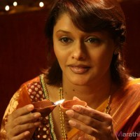 Marathi Actress pallavi joshi in  Prem Mhanje Prem Asta Movie