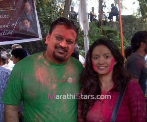 Shruti Marathe Holi Photos