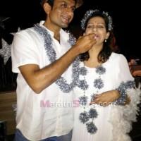 Madhura Velankar With husband Abhijeet Satam