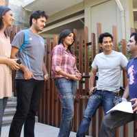 Mukta Barve,Umesh Kamat,Tejashree Pradhan,Sidhharth Chandekar With Director Ajay Naik