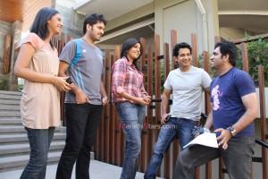 Mukta Barve,Umesh Kamat,Tejashree Pradhan,Sidhharth Chandekar With Director Ajay Naik