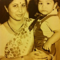 Aniket Vishwasrao  with mother Child photos