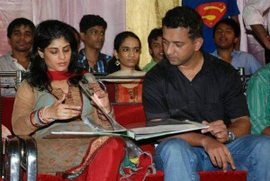 Marathi Actress Aditi Sarangdhar wedding Photos