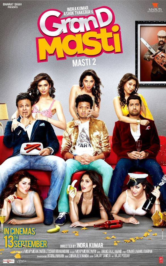 Sonalee Kulkarni's First Bollywood Movie Grand Masti Poster