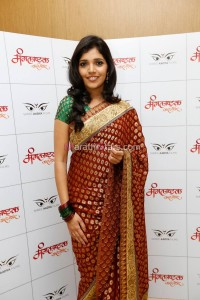 Talented actress Mukta Barve at the music launch of Marathi movie Mangalashtak Once More, held in Mumbai, on October 8, 2013.