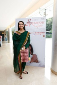 Producer Renu Desai at the music launch of Marathi movie Mangalashtak Once More, held in Mumbai, on October 8, 2013.