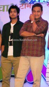 Mahesh Manjrekar with Son Satya Manjrekar