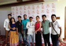 Piyush Ranade, Shalmali Tolye, Madhav Devchake, Vishal Inamdar, Chandrakant Kulkarni, Amruta Khanvilkar and Sushant Shelar at Marathi Box Cricket League (MBCL) Launch