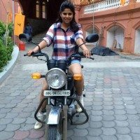 Marathi Actress Sai Tamhankar Bike Ride