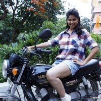 Sai Tamhankar : Marathi Beauty on a Bike Ride