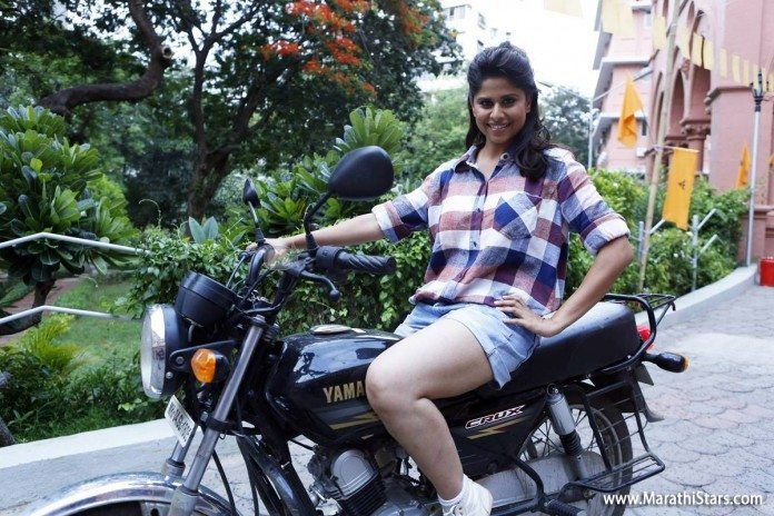 Sai Tamhankar: Marathi Beauty on a Bike Ride