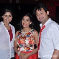 Sai Tamhankar, Urmila Kanetkar-Kothare and Swapnil Joshi