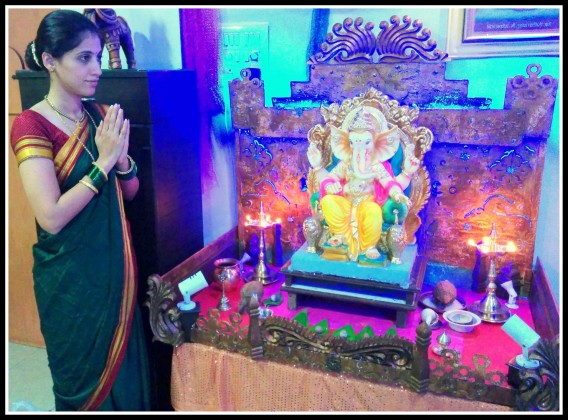 Actress Manasi Kulkarni - Celebrating Ganesha Chathurthi