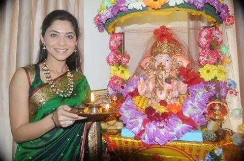 Sonalee Kulkarni - Celebrating Ganesha Chathurthi