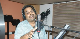 Shankar Mahadevan records a song for Candle March