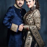Pushkar Jog with wife Jasmine Brambhar