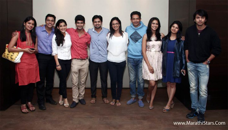 Zee Marathi Actors With happy Journey Team