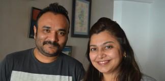 Vijay M with Neha Rajpal.