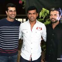 (L-R) Prasad Bhende, Siddharth Jadhav and Mahesh Limaye
