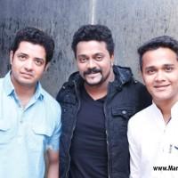 (L-R) Swapnil Bandodkar, Amitraj and Rohit Raut