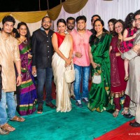 Marathi Celebrities at Adarsh Shinde Wedding