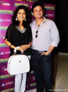 Actor Swapnil Joshi & Actress Mukta Barve together at Mumbai Pune Mumbai 2 Lagnala Yaychach Marathi movie Treasure launch