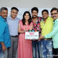 Pushpank  Gawde, Ajit Andhare - COO Vaicom18 Motion Pictures, Sonalee Kulkarni,  Jitendra Joshi, Hadi Ali Abrar and Sameer Patil.JPG