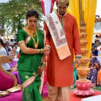 Mrunal Dusanis Marathi Actress Marriage Photos