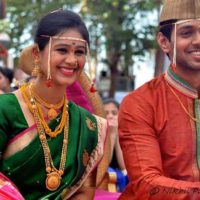 Mrunal Dusanis Marathi Actress Marriage Photos Unseen
