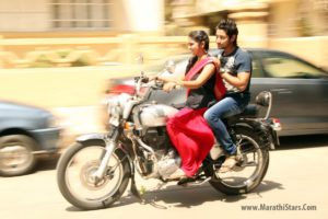Archi and Parsha on the bike - Sairat