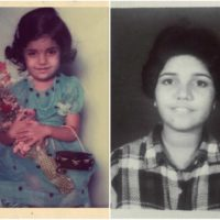 Mukta Barve childhood photo