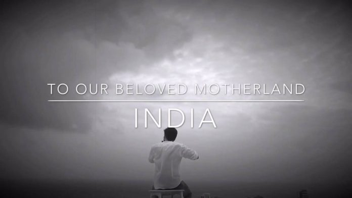 Raqesh Bapat pays a tribute to India in a creative way
