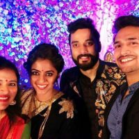 Bhushan Pradhan & Bhargavi Chirmule at Mrunmayee Deshpande Marriage