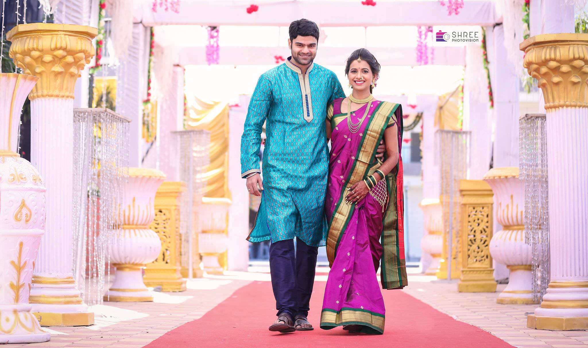 Mayuri Wagh Piyush Ranade Marathi Actors marriage Photos - Beautiful Traditional Wedding Dresses