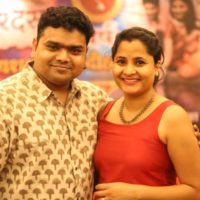 Sameer Khandekar with wife
