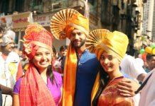 Zee Marathis Shiv, Gauri & Nupur Celebrate Gudhi Padwa with Traditional Dhol Tasha