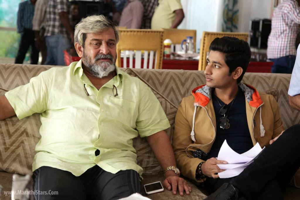 Akash Thosar & Mahesh Manjrekar Fu On Shoot Photos