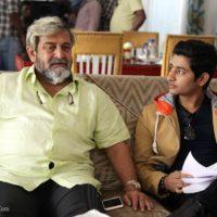 Akash Thosar & Mahesh Manjrekar Fu On Shoot Photos