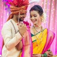 Akshaya Gurav Bhushan Wani Marriage Couple
