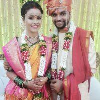 Akshaya Gurav Bhushan Wani Marriage Images